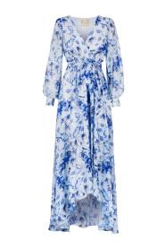 Kwiatowa długa sukienka z krótszym przodem Irmina