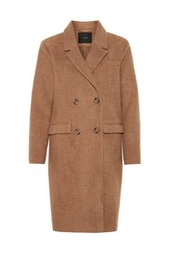 Coat Double-breasted wool-blend