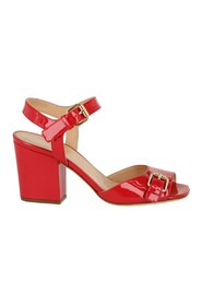 Patent Leather Buckle Sandals