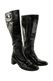 Pre-owned Patent Leather Boots Shoes Size 36