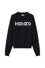 logo print crew neck sweatshirt