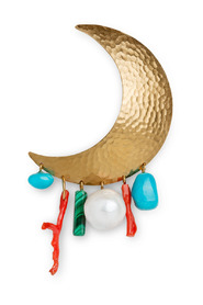 Big Moon Earring, gold-plated sterling silver
