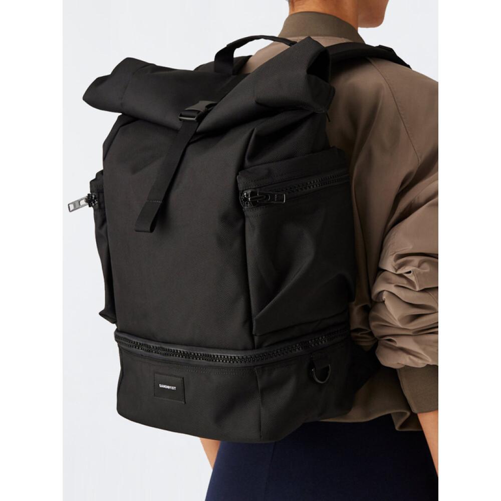 Black Protect the backpack | Sandqvist | Plecaki - Najnowsza zniżka Gob6G