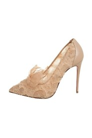 Fabric And Leather TouFrou Pumps
