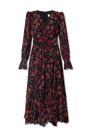 Dress with floral-motif