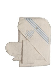 BABY BATHROBE BABY GLOVE CHECKED BEAR