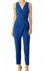 Jumpsuit Surplice Pleated