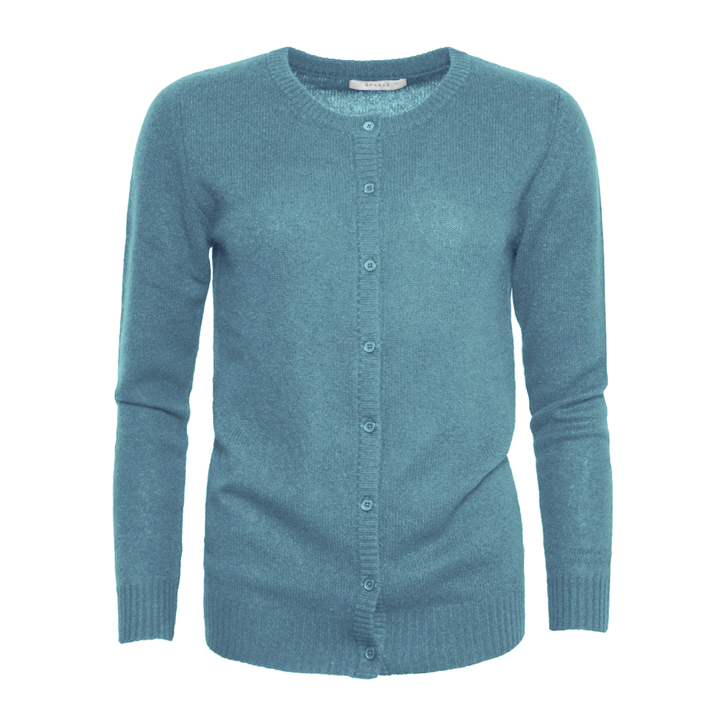 PURE CASHMERE O-NECK CARDIGAN