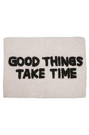 "Hvit A.U Maison ""Good Things Take Time""  Baderomsmatte"