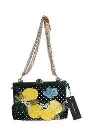 VANDA Floral Embroidered Crystal Bag