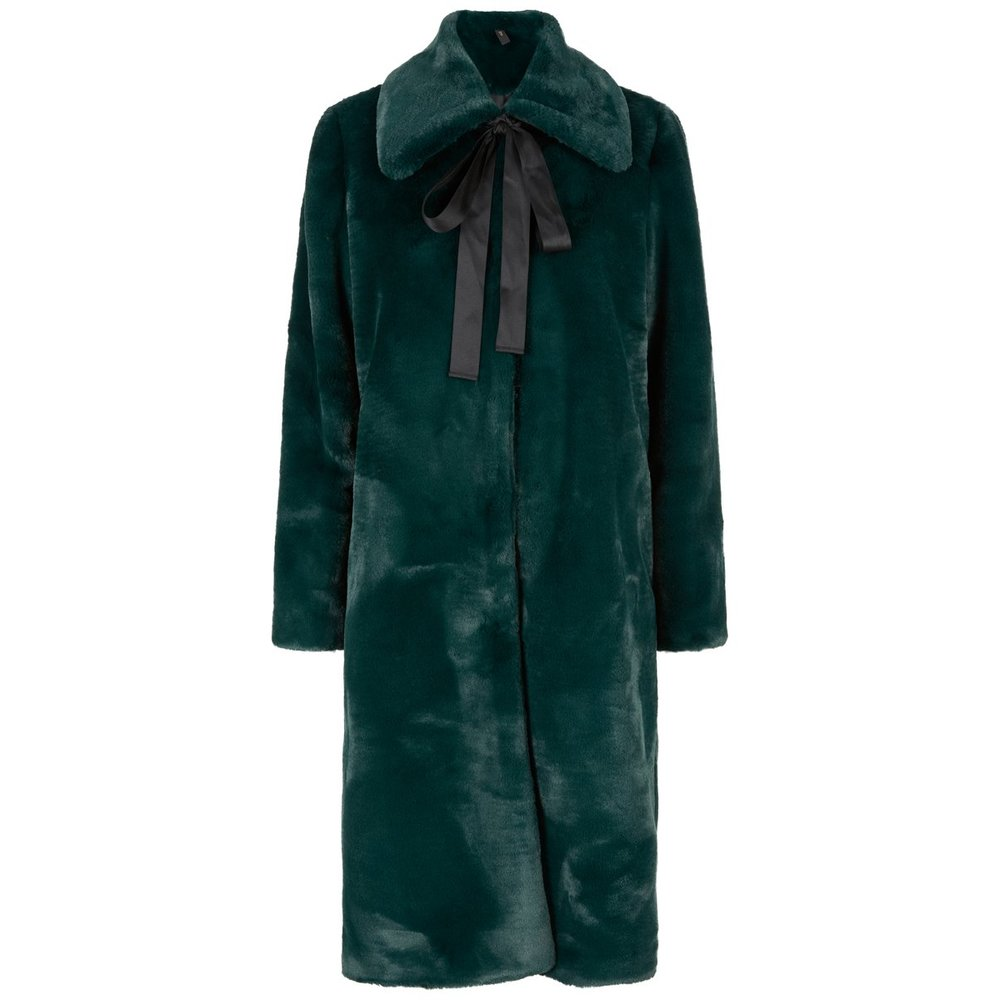 Coat Green faux fur