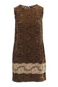 Tweed & Lace Multifabric Dress