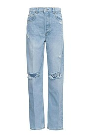 Denim Jeans with Tears Details