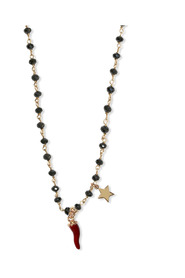 RED HORN AND STAR KNOT NECKLACE