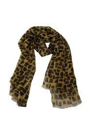 Black Print Wrap Shawl Scarf