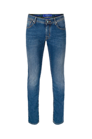 J622 Turquoise Comf Jeans