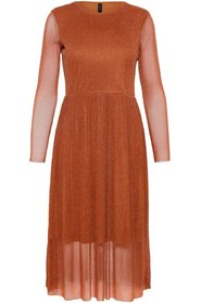 Jessa LS Lurex Midi Dress