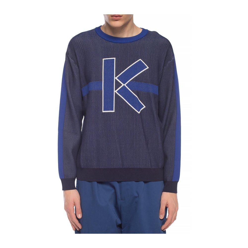 NAVY BLUE Sweater with logo | Kenzo | Truien  Vesten | Heren winter kleren