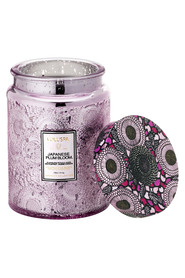Embossed Glass Jar Candle 100 Tim - Japanese Plum Bloom Duftlys