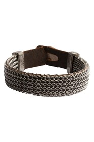 bracelet with interweaving chain and leather