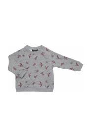 Petit by Sofie Schnoor - Baby Sweatshirt, Bird - Grey Melange