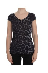 Leopard Modal T-Shirt Blouse Top