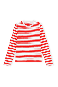 Top Thin Software Striped Jersey Long Sleeve