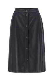 C_Vefy Perforated Faux Leather Skirt