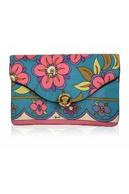Floral Silk Pochette Envelope Clutch Bag