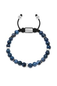 Beaded Bracelet With Blue Dumortierite And Silver