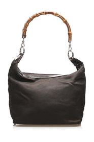 Bamboo Nylon Shoulder Bag