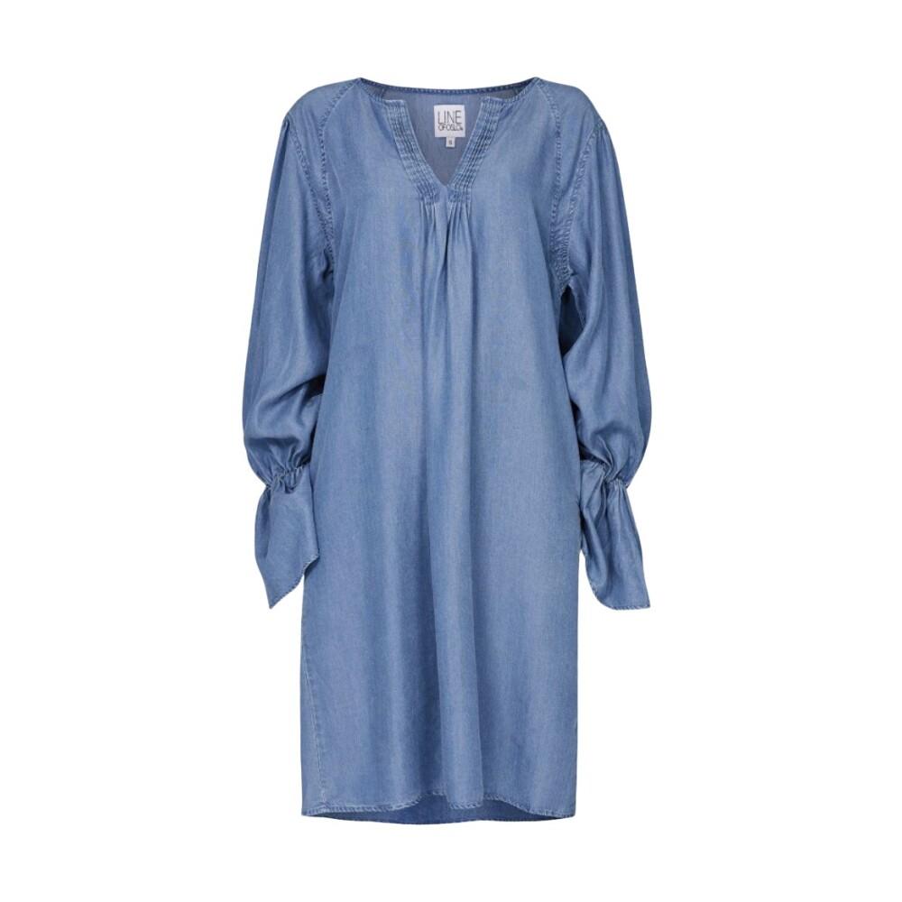 Mørk blå  V-hals kjole  GARCIA  Hverdagskjoler - Dameklær er billig