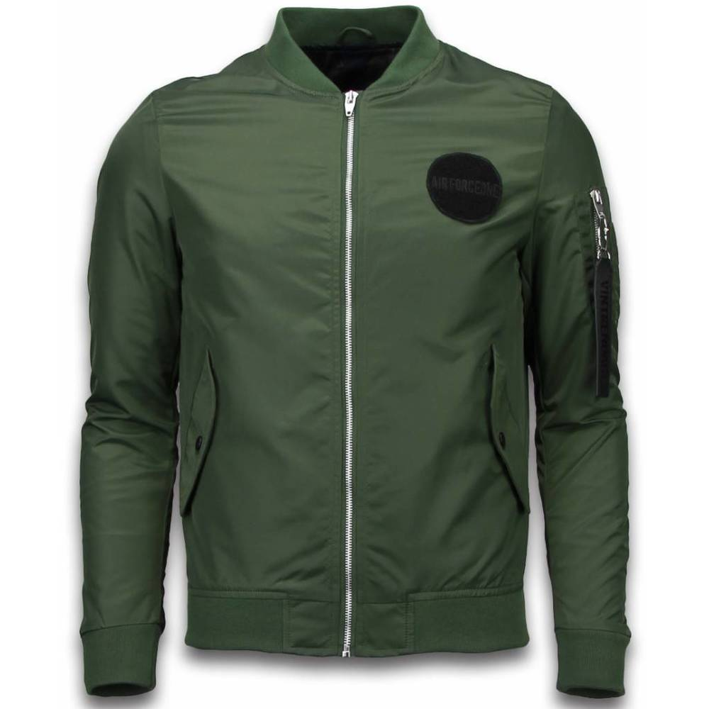 Bomber Jack Men - Bomber Jacket Rescue Air Force One - Green