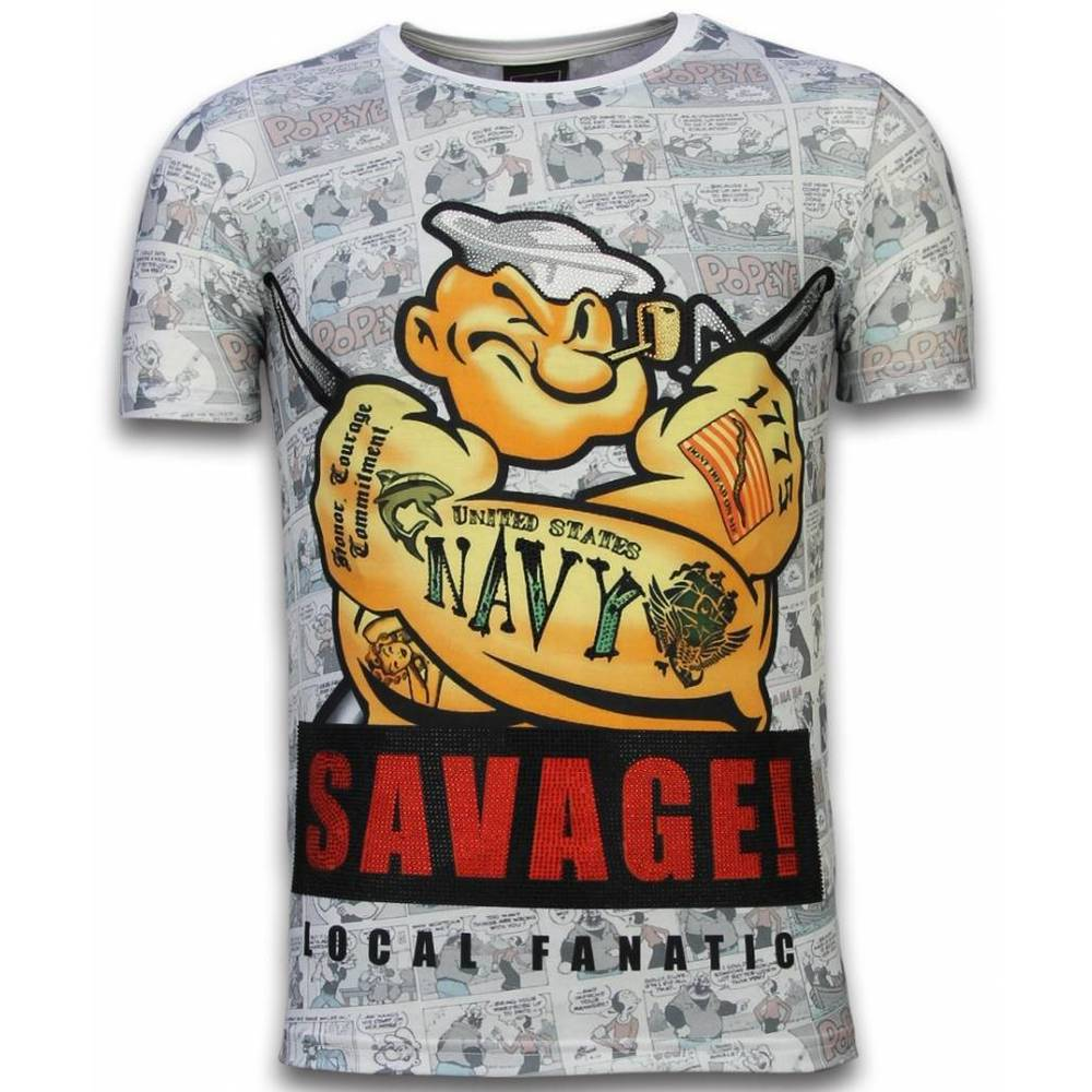 Popeye Savage – Digital Rhinestone T-shirt