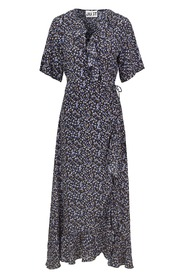 Maxi Wrap Dress Little Flower aop