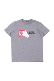 DIESEL TDIEGO 00J3ZN 00YI9 T SHIRT AND TANK Unisex Boys GREY HEATHER