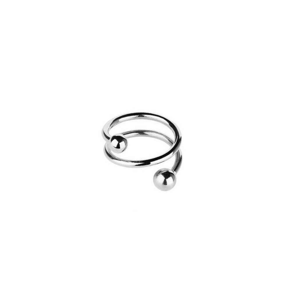 Maria Black Ring, Body Spiral, Silver