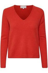 In Wear Tia V Pullover MA18 Fiery Red