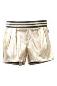 Metallic vintage effect techno shorts