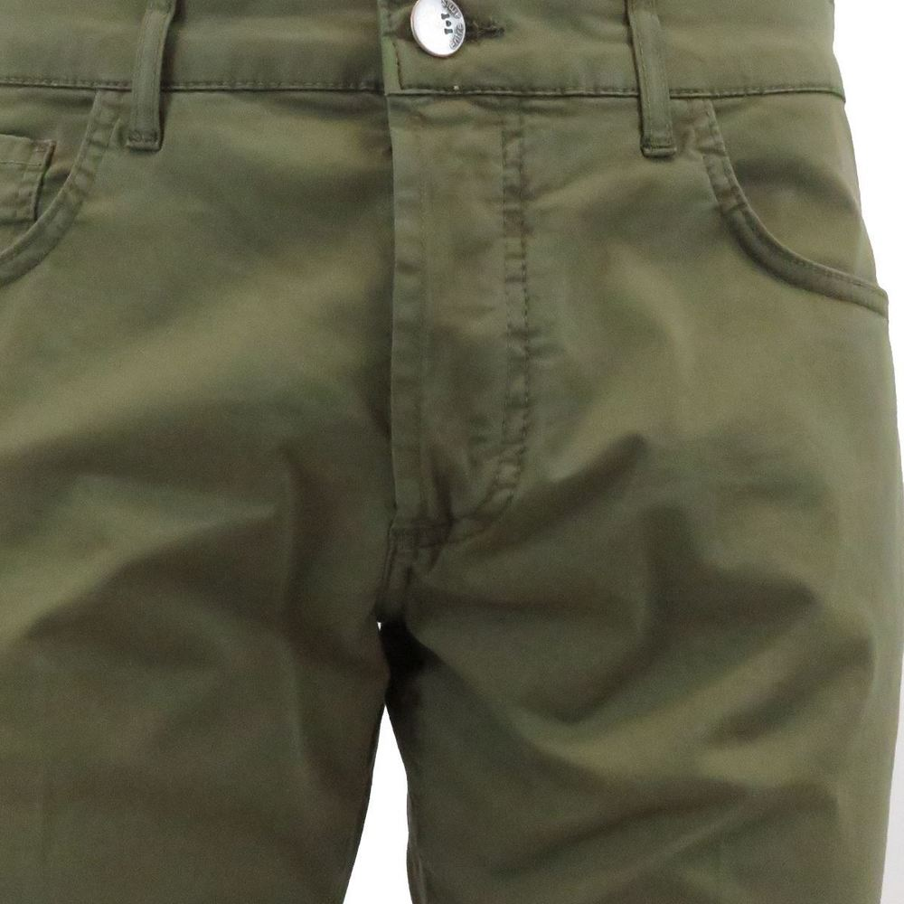 Green 5-pocket trousers for men | Entre amis | Byxor | Herrbyxor 20121548