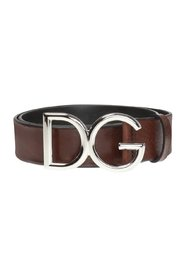 Logo-buckled belt