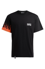 T-shirt with logo and side flame