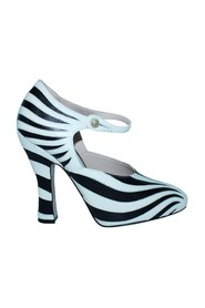 Zebra Leather Heels -Pre Owned Condition Excellent