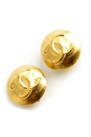 Round clip on CC earrings
