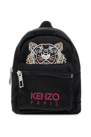 Backpack with tiger motif