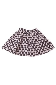 KNAST by KRUTTER - Dotted Dagmar Skirt - Black / Rose Woven