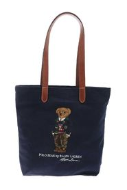 BEAR EMBROIDERY TOTE BAG