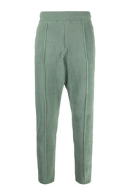 pressed-crease track trousers