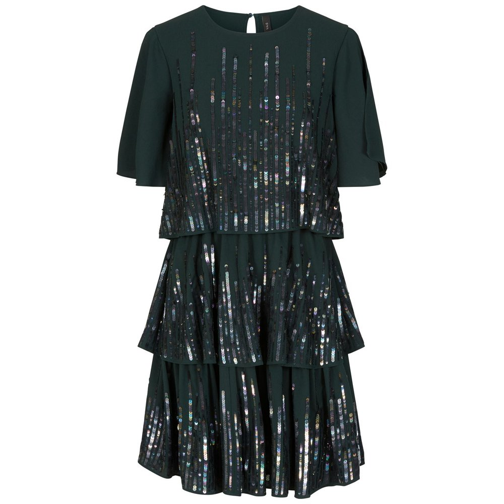Midi dress Sequin flounce