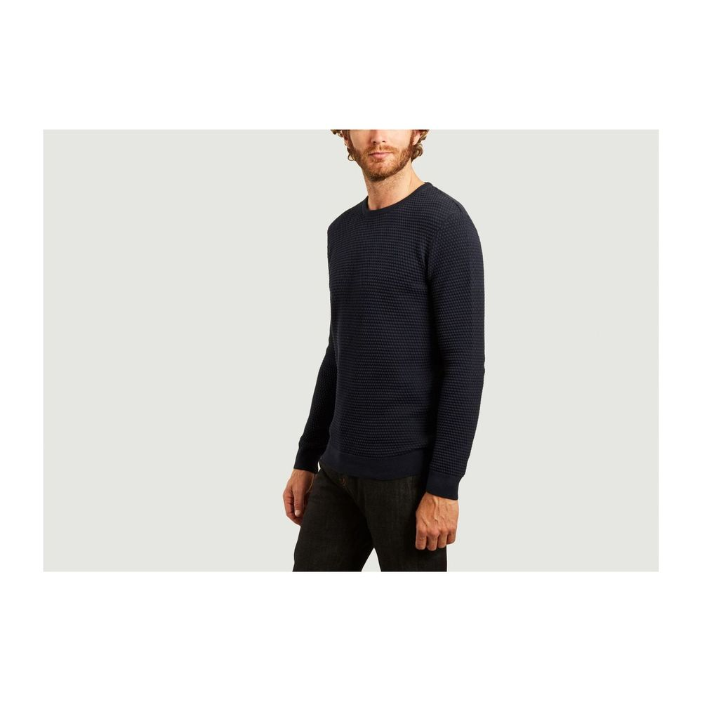 Knowledge Cotton Apparel Navy Blue Field sailor knit organic cotton sweater Knowledge Cotton Apparel